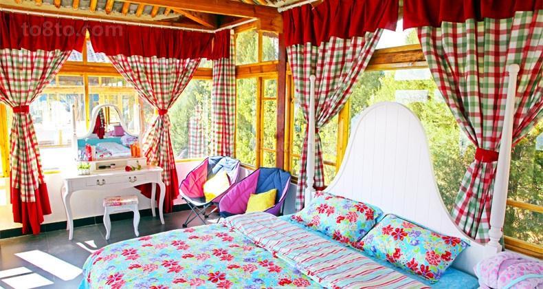 130万打造浪漫欧式风格卧室窗帘装修效果图大全2014图片