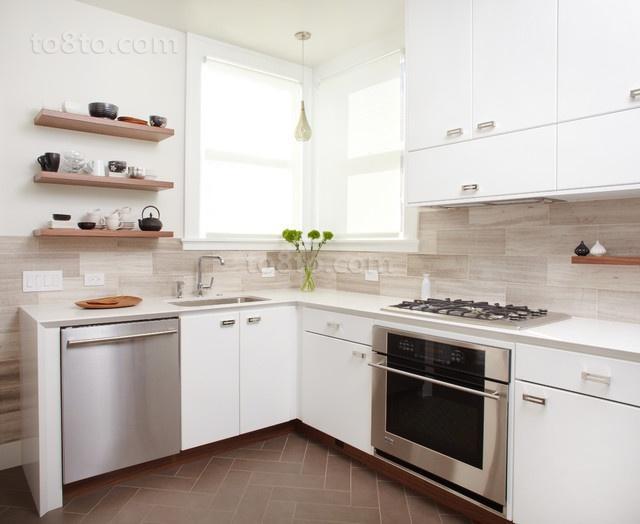 78平米小户型现代简欧风厨房装修效果图