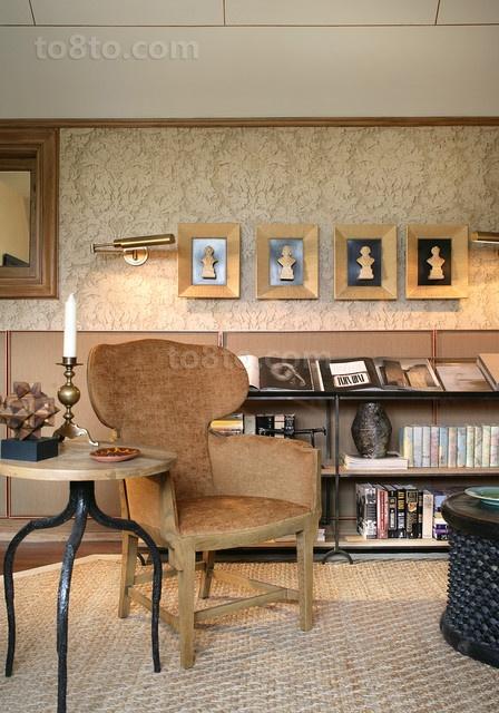 中式内蕴的书房小博古架装修效果图大全2014图片