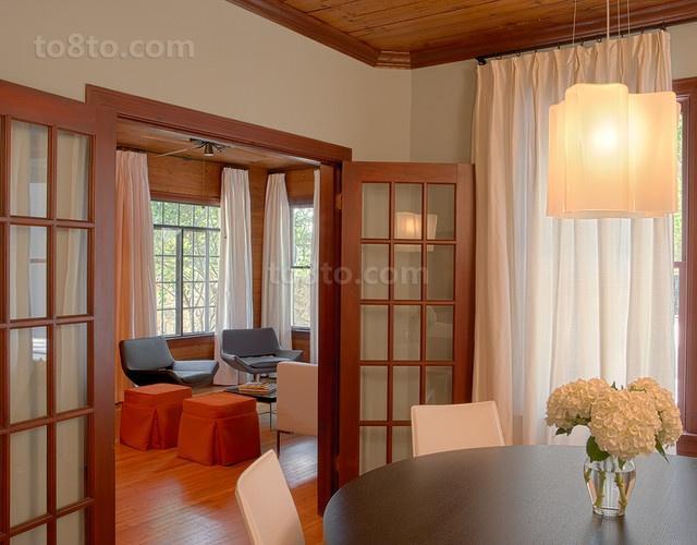 三房两厅简欧浪漫的家庭餐厅吊顶装修效果图
