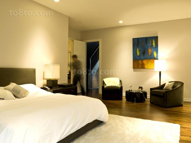 现代动感的复式楼卧室装修效果图大全2014图片