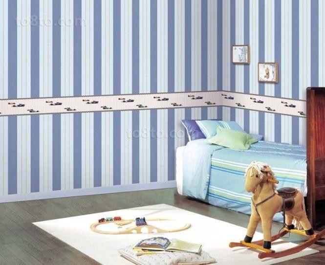 小户型儿童房装修图 儿童房装饰背景墙