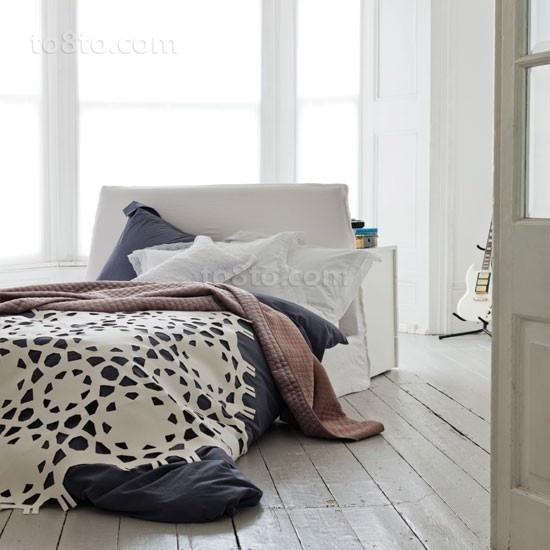 黑白简约三居室卧室装修效果图大全2012图片