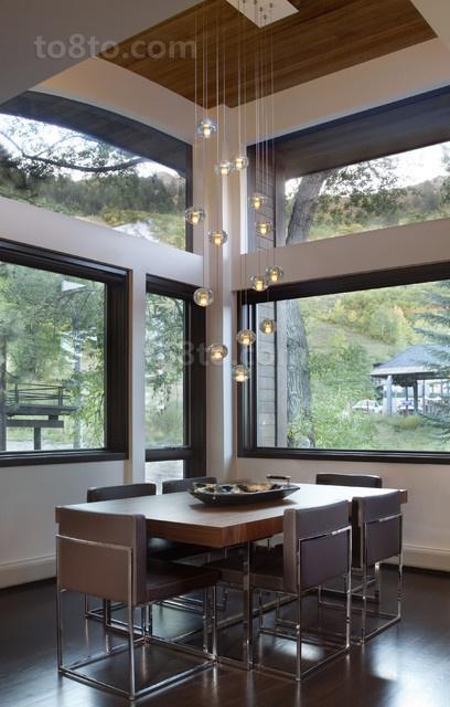 34万打造温馨舒适现代风格餐厅飘窗装修效果图大全2014图片
