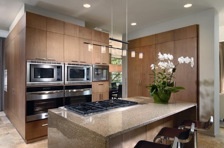 3室2厅现代风格厨房橱柜装修效果图大全2014图片