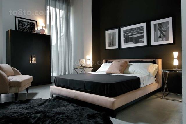 简约风格三居室家庭卧室装修效果图