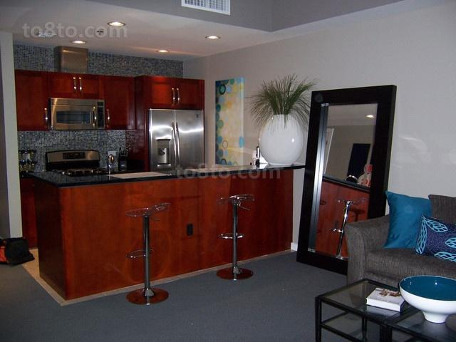 12万打造的舒适现代风格厨房橱柜装修效果图大全2014图片