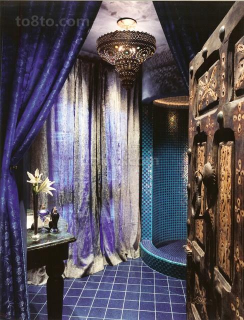 绝美的东南亚小户型卫生间窗帘装修效果图