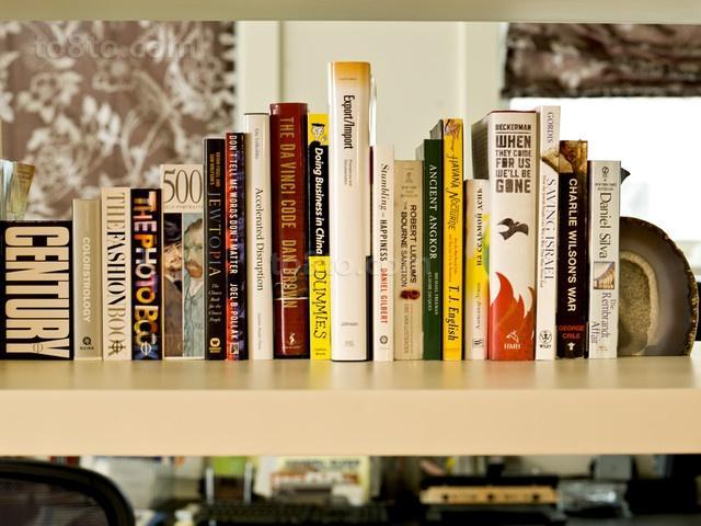 现代动感的复式楼书房装修效果图大全2014图片