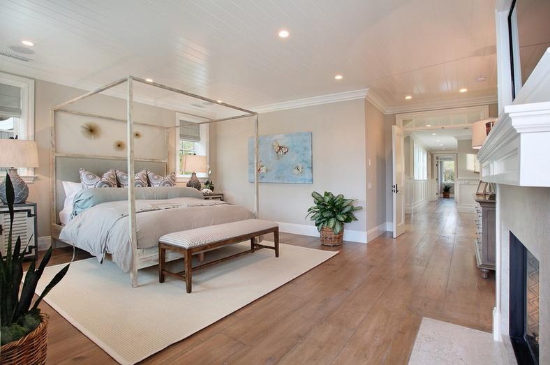 20万打造白色清新欧式卧室吊顶装修效果图大全2014大全