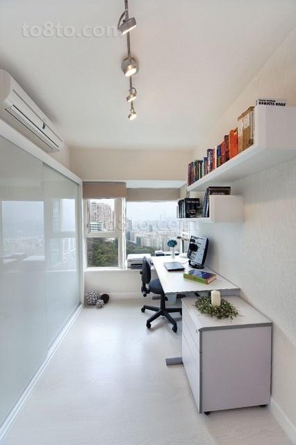 白色简约风格书房装修效果图大全