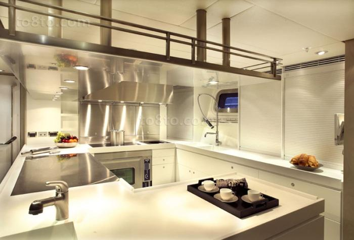 简欧风格三居室厨房橱柜装修效果图大全2014图片