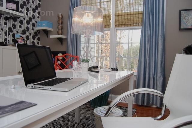 50万打造温馨欧式风格书房窗帘装修效果图大全2014图片