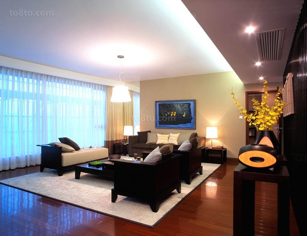 现代风格四居室内客厅装修效果图大全2013图片