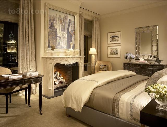 欧式风情打造两居室卧室装修效果图大全2014图片