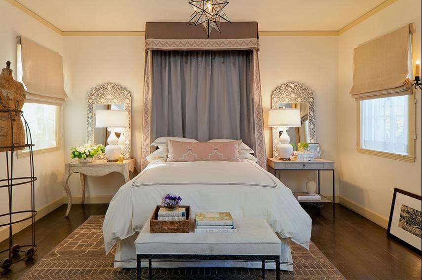 20万打造大自然气息北欧卧室窗帘装修效果图大全2014图片