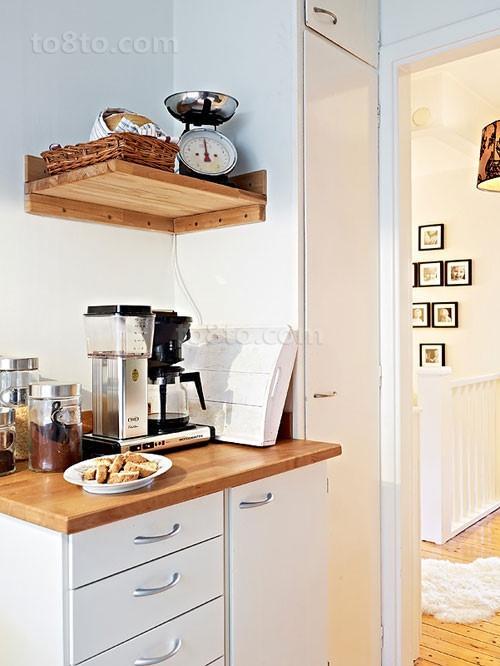 79平米小户型简欧小清新厨房装修效果图大全2014图片