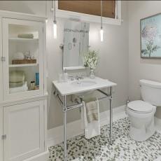 热门复式卫生间混搭装修效果图片欣赏