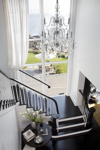 黑白分明打造现代别墅装修效果图大全2012图片