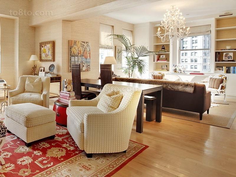 20万打造简约清新欧式客厅装修效果图大全