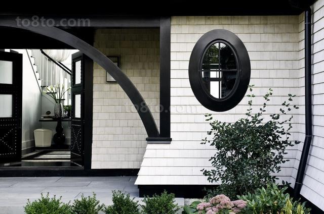 黑白分明打造现代别墅玄关装修效果图大全2012图片