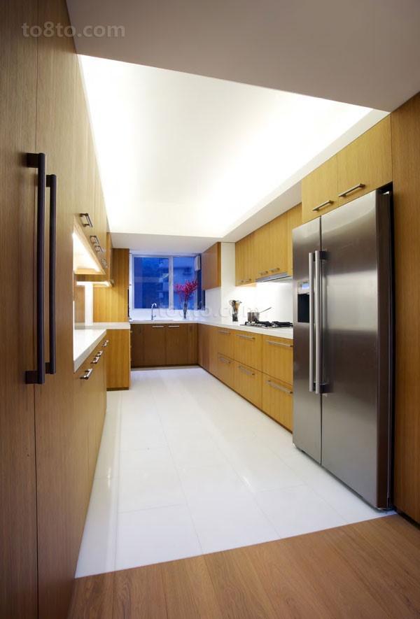 创意的不规则形状别墅厨房橱柜装修效果图大全2014