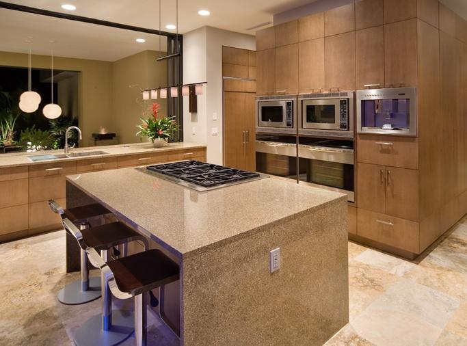13万打造原木现代风格厨房橱柜装修效果图大全2014图片