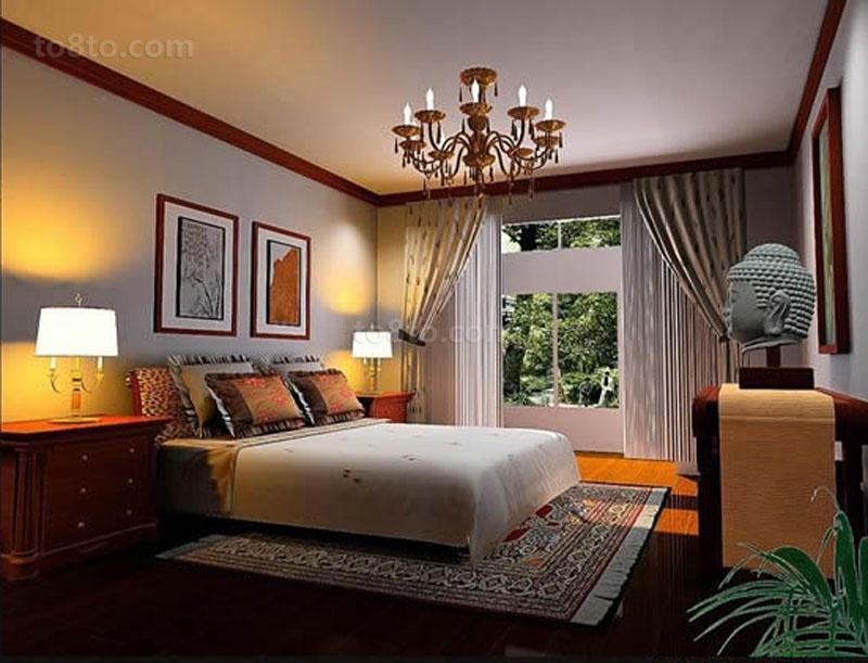 美式风格打造三居室卧室装修效果图大全2014图片