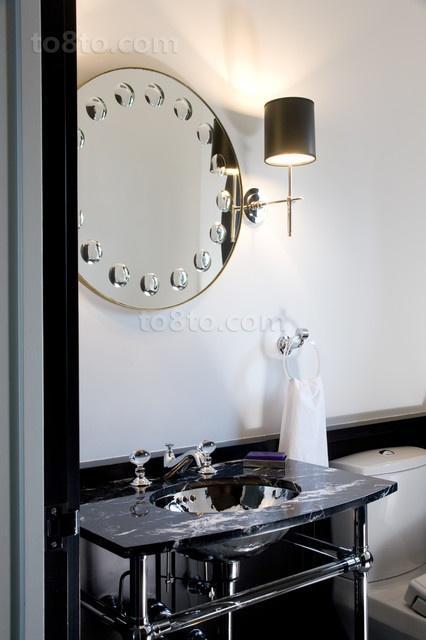 黑白分明打造现代别墅卫生间装修效果图大全2012图片