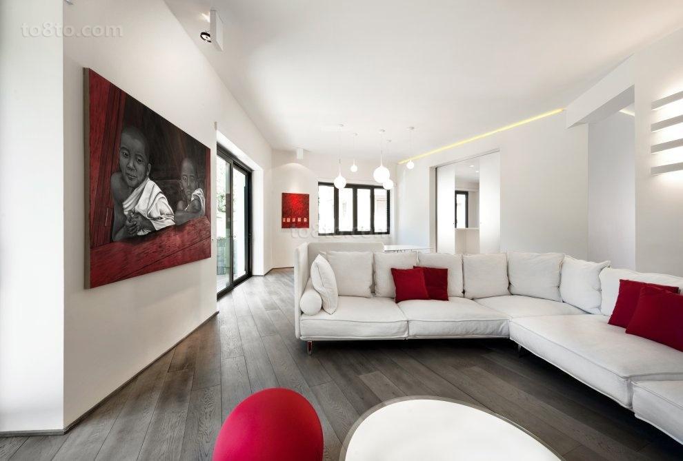 80后喜欢的现代简约婚房客厅装修效果图