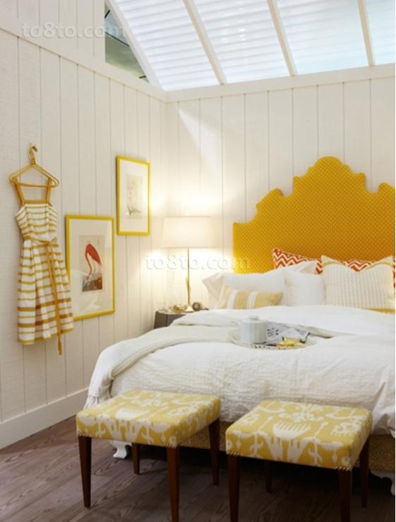 北欧小户型淡黄色清新的卧室装修效果图