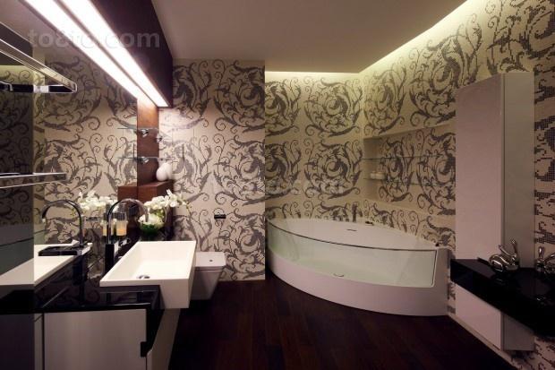 135㎡四居室家庭卫生间装修效果图大全2014图片
