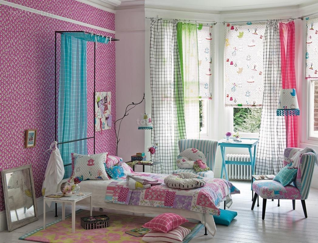 田园风格小户型儿童房窗帘装修效果图大全