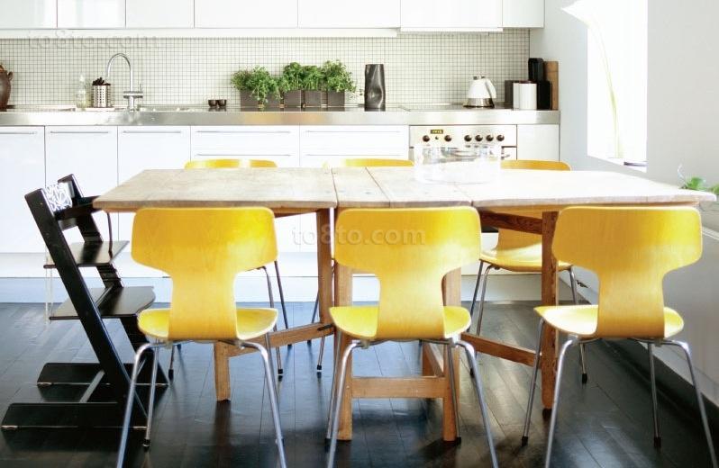 小户型青春动感的餐厅装修效果图大全2012图片