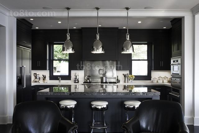黑白分明打造现代别墅餐厅装修效果图大全2012图片