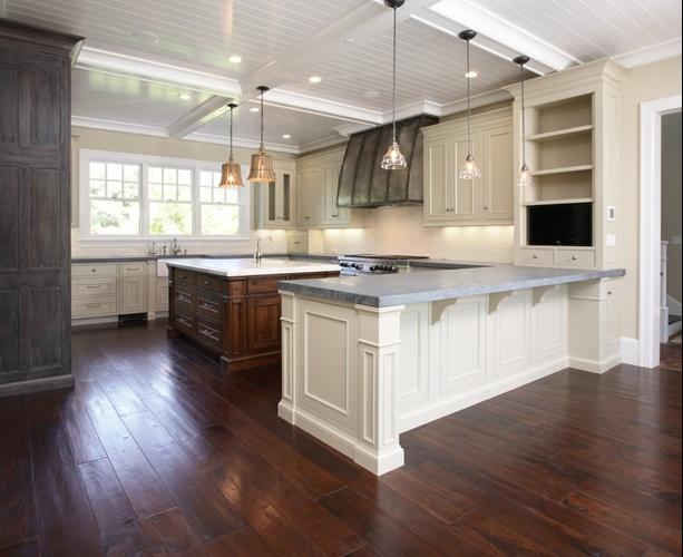 10万打造华丽美式厨房橱柜装修效果图大全2014图片