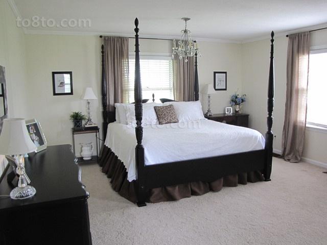 欧式简约风格三居室卧室装修效果图大全2014图片