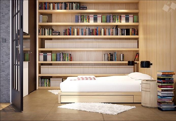 现代时尚三居室书房装修效果图大全2014图片