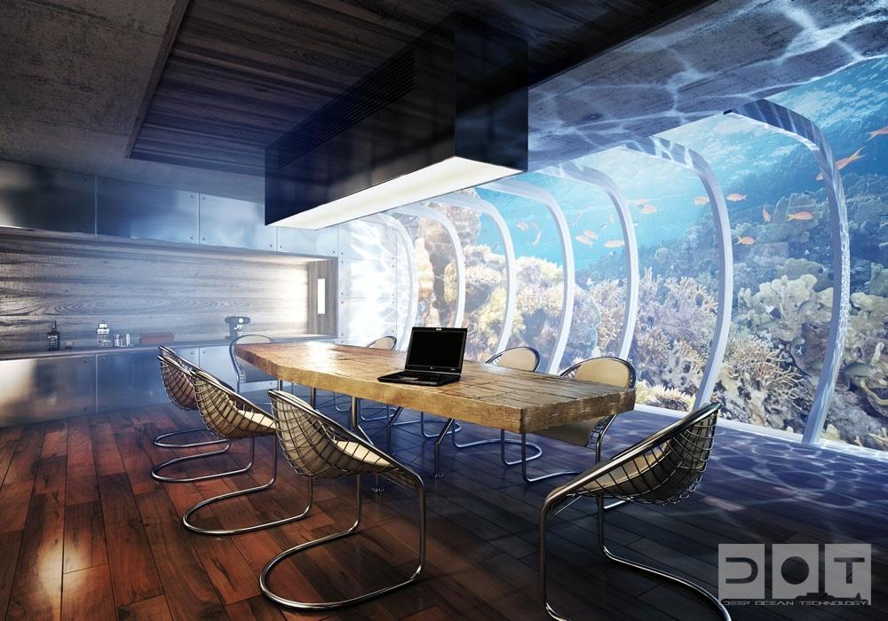 海底别墅餐厅装修效果图大全2014图片