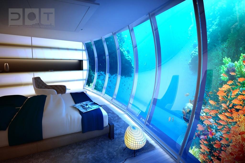 浪漫的海底别墅卧室装修效果图大全2014图片