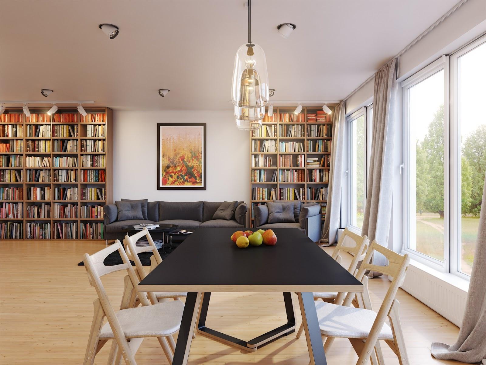 90平米小户型家庭餐厅飘窗装修效果图大全2014图片