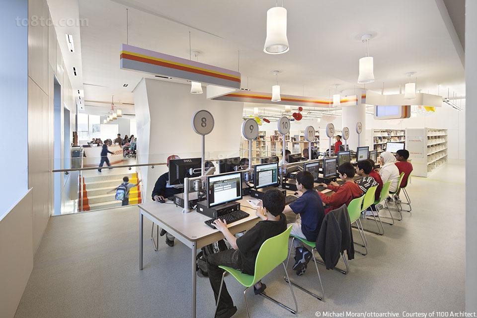 图书馆电子阅览室设计 土巴兔装修效果图