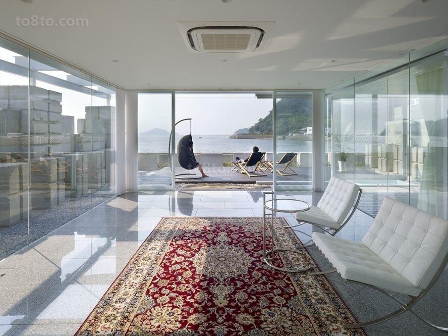透明简约的别墅客厅装修效果图大全2014图片