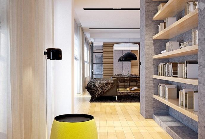 家装现代时尚三居室装修效果图大全2014图片