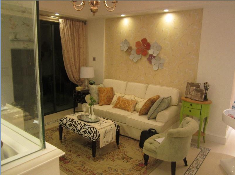 热门90平米二居客厅混搭装修欣赏图片