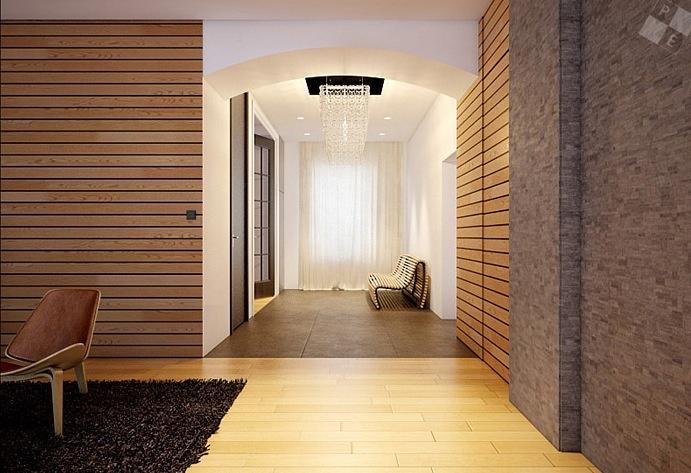 现代时尚三居室玄关装修效果图大全2014图片