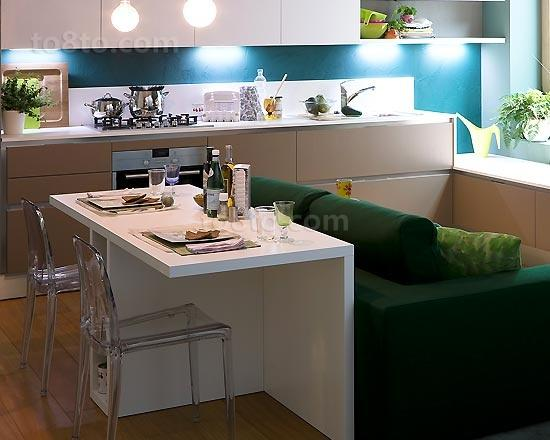 40平超小户型餐厅装修效果图大全2012图片