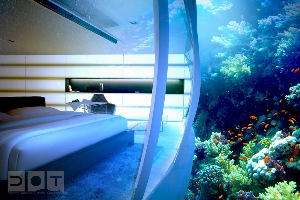 现代创意海底别墅卧室装修效果图大全2014图片