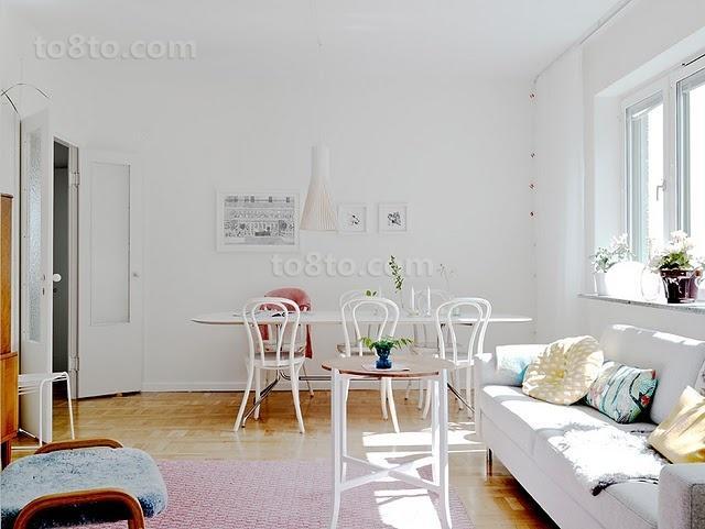小户型清新自然的客厅装修效果图大全2014图片