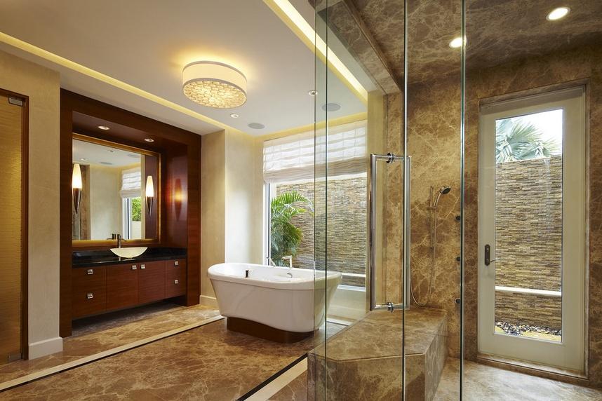 美式别墅卫生间装修效果图欣赏